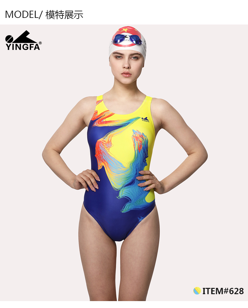 02f0396e76eea YINGFA swimsuit for girls women training competition one-piece ...