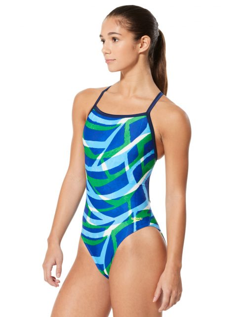 Speedo Higher Level Flyback | Blue Green 7719946-421 - Speedo Swimsuit | Training Swimwear